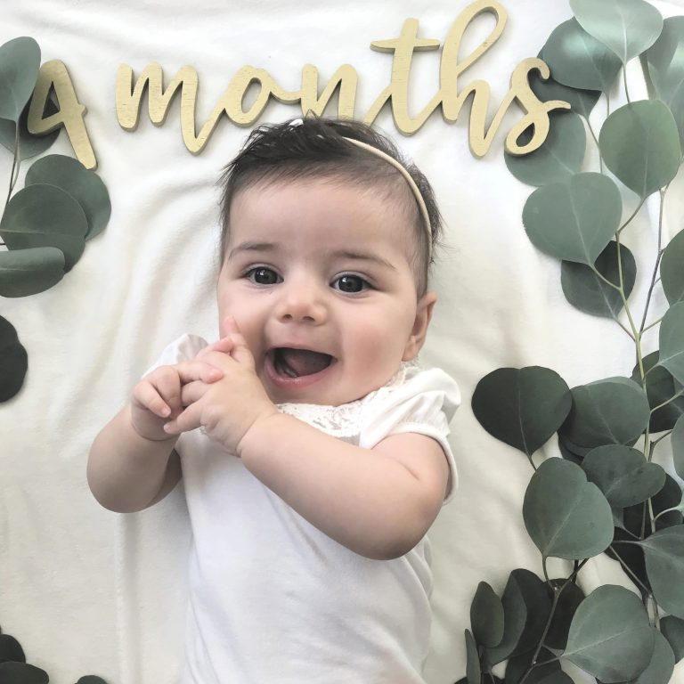 4 month baby pictures - Learn Eat Sleep